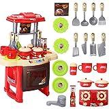 HJX888 Jugar Cocina Juguete, Utensilios Cocina Juguete,Mini Accesorios Cocina Juguetes Regalo, para Niños, Mayores de 3 años,Rojo