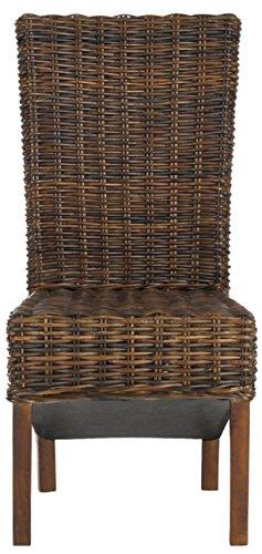 Safavieh EAF6523 Stuhl Ohne Armlehnen (Set Von 2), Kunstleder, Braun, 50 x 50 x 104.90 cm