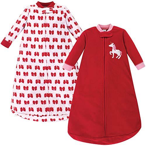 Hudson Baby Unisex Baby Long Sleeve Fleece Sleeping Bag, Christmas Unicorn, 0-9 Months
