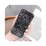 電話ケースiPhone 11ケース11プロXS最大XR X 6 6 s 7 8プラスラブハートスタースパンコールソフトキラキラクリアカバーCapa