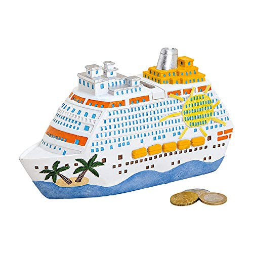 wunderschöne,hochwertige große Reisekasse, Urlaubskasse,Spardose,Sparbüchse, Boot,Kreuzfahrtschiff