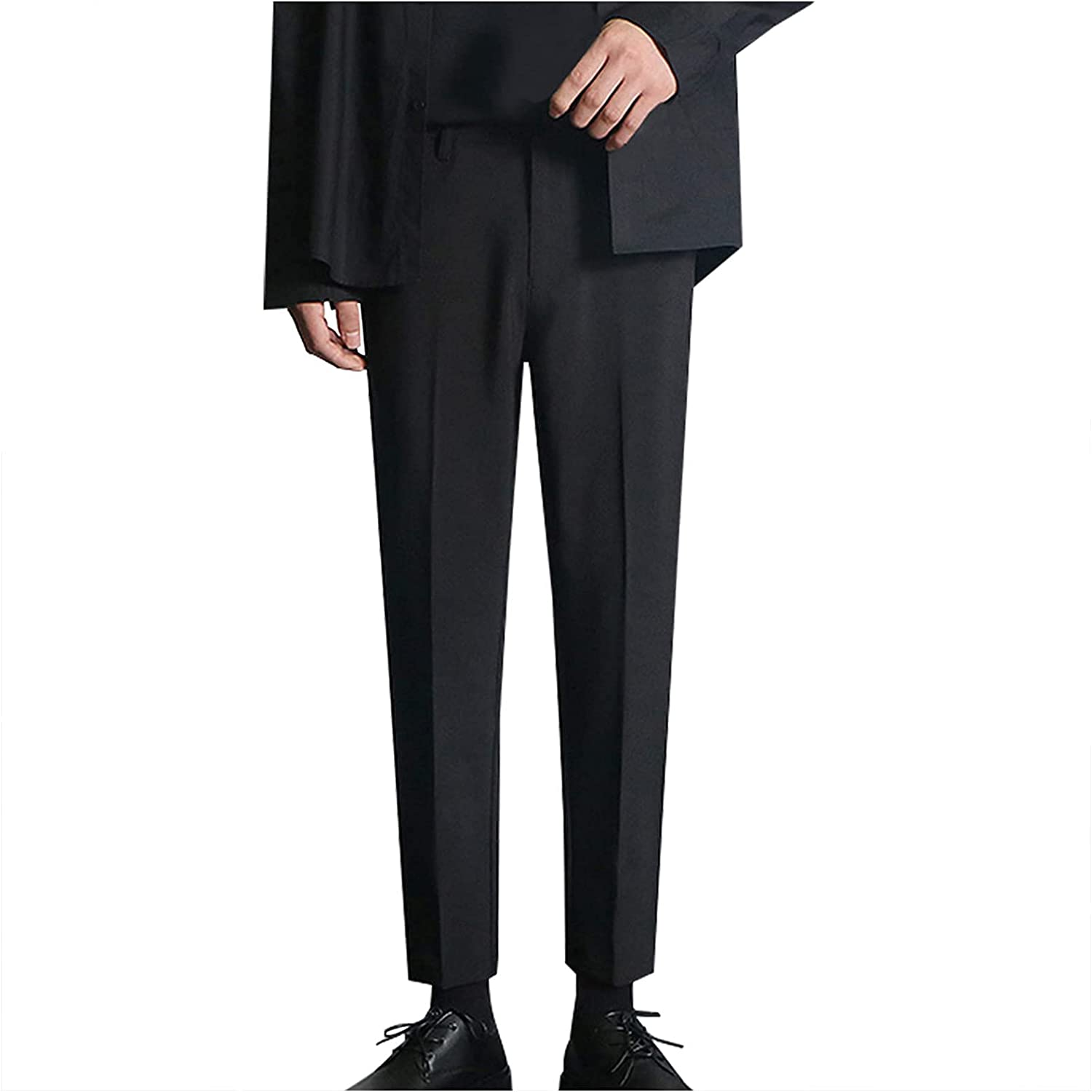 Dress Pants for Men Slim Fit Men's Classic Casual Pant Stain Shield Stretch Straight Fit Flat Front Dress Pant
