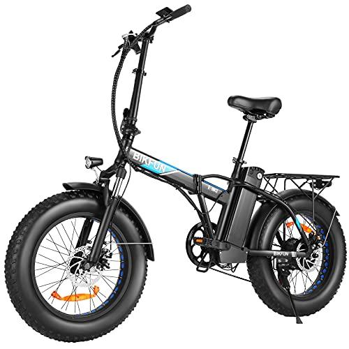 BIKFUN Bicicleta Electrica Plegable 48V 12.5Ah, Bicicleta Eléctrica de 20...