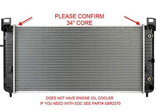 Sunbelt Radiator For Chevrolet Silverado 2500 HD GMC Sierra 1500 2423 Drop in Fitment