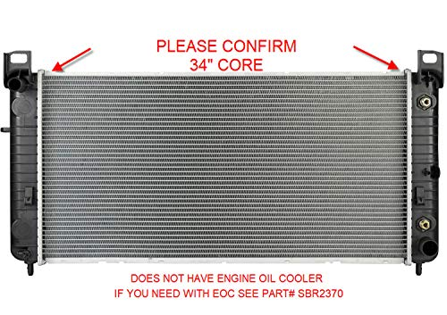Sunbelt Radiator For Chevrolet Silverado 2500 HD GMC Sierra 1500 2423 Drop in Fitment