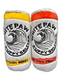 White Paw Two Pack Plush Squeaky Dog Toys Funny Drink Parody...
