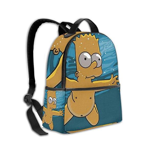 51PQxvbObJL. SS600  - Anime Cartoon Simpsons - Mochila para Estudiantes, Unisex, diseño de Dibujos Animados, 14,5 x 30,5 x 12,7 cm