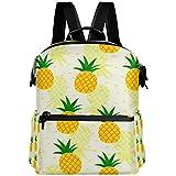 Oarencol - Mochila de piña amarilla para verano, frutas tropicales, para la escuela, para viajes, senderismo, camping, portátil, mochila