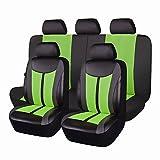 Flying Banner pelle e mesh traspirante universale set di coprisedili per auto con airbag compatibile