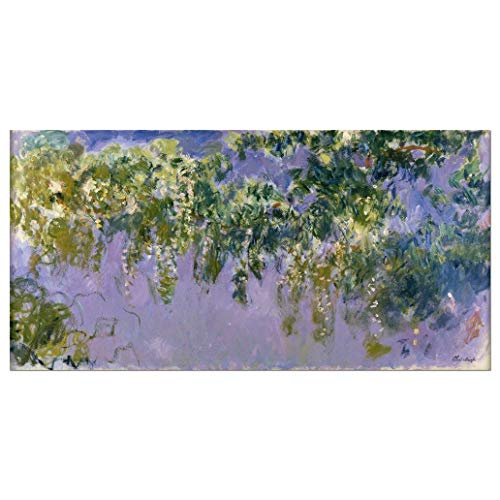 Wieco Art Wisteria Giclee Canvas Prints Wall Art of Claude Monet Famous Oil Paintings