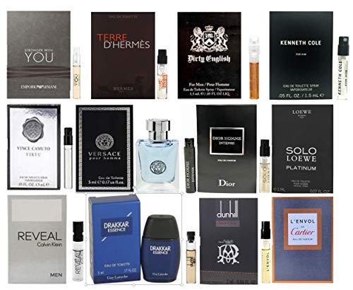Pilestone's Selection: 12 Cologne Samples For Men All High End Designer Fragrances Good For Event Gifts