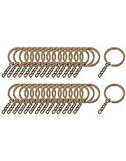 Nobranded Verpakking van 30 stuks, sleutelringen, metalen split, sleutelhangers, ringen voor sieraden maken handwerk, sleutelhanger groot - 30 mm brons
