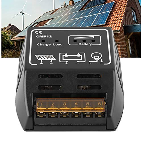 Riuty Solarladeregler, Solarpanel-Regler Laderegler Intelligente Photovoltaik-Controller 12V 10A Automatische Erkennung des Batteriereglers