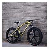 YCHBOS 26 Pulgadas Fat Tire Bike Bicicleta de Montaña para Adultos, 24 Velocidad Beach Snow Cruiser Hombres y Mujeres, Bicis Montaña con Doble Freno de Disco, Suspensión DelanteraD