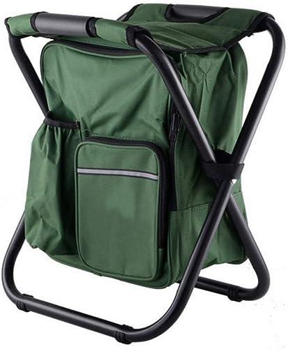 Kefaith Chaise de pêche portable Pliant Multifonctionnel Sac de pêche Oxford Chaise de Camping en Tissu avec Sac de Stockage de Glace Fournitures de Camping