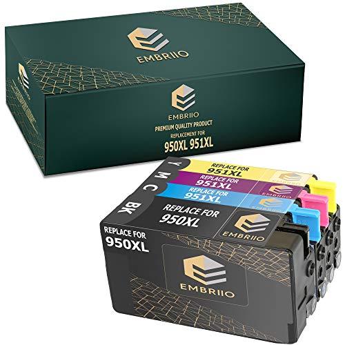 EMBRIIO 950XL 951XL 4X Cartuchos de Tinta 950 951 XL Reemplazo para HP OfficeJet Pro 8100 8600 8610 8615 8616 8620 8625 8630 8640 8660 251dw 276dw