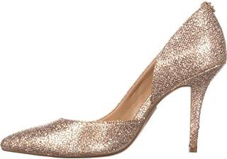 Michael Kors Womens Nathalie Flex High Pump, Glitter Silver/Sand, Size 9.0