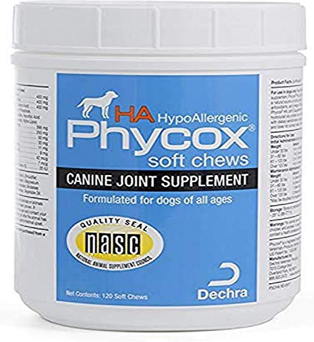 Dechra Phycox Hypoallergenic (HA) Soft Chews, Joint Supplement for Dogs (120ct)