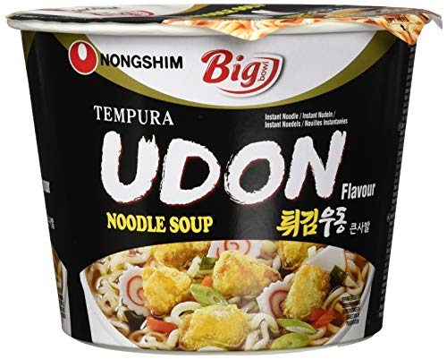 Nong Shim Instantnudeln Udon Big Bowl - Koreanische Ramen Suppe - schnelle Zubereitung - 1er Vorteilspack à 111g