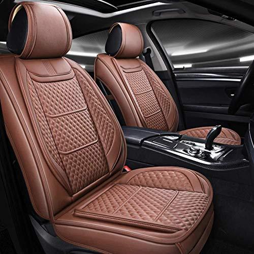 Autostoel kussen-Auto Stoel Cover Volledige Set Kunstleer met Knit Ijs Zijde - Verstelbare Auto Stoel Kussen Fit voor Elantra Sonata Tucson Accent Corolla Focus RAV4 Forte Tacoma CX-5 Sentra BRON