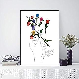 wen-shhen Rompecabezas de 1000 Piezas, Rompecabezas para niños, Rompecabezas Familiar, Rompecabezas de cartón, Juego de Rompecabezas Andy Warhol Gold Wall Art Wall Modern Flor