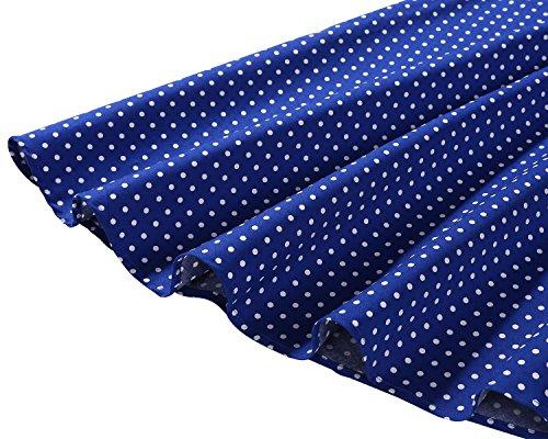 Bbonlinedress 1950er Vintage Polka Dots Pinup Retro Rockabilly Kleid Cocktailkleider Blue White Dot XL - 6