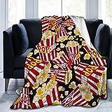 XTGOO Popcorn Print Flannel Fleece Blanket Throw Ultra-Soft Velvet Plush Throw Blanket