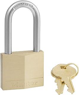 Master Lock 140DLF Padlock with Key, 1 Pack, Brass