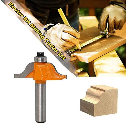 Ksruee 45 Grad Verleimfräser Gehrung Fräs, 8mm Schaft Oberfräser Lock Miter Router Bit Holzbearbeitung Fräser Werkzeug für Graviermaschine Trimmmaschine