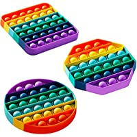 3-Pack Kupol Anxiety Stress Relief Bubble Popping Silicone Game Toy