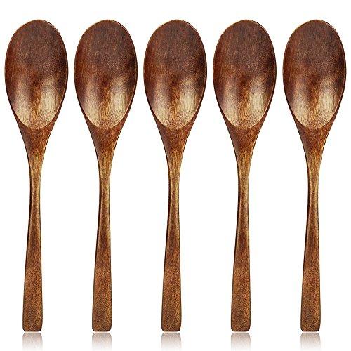 AOOSY Cuchara de madera,Juego de cucharas de sopa de madera