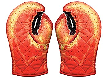 Boston Warehouse Lobster Claw Oven Mitts One Size Red