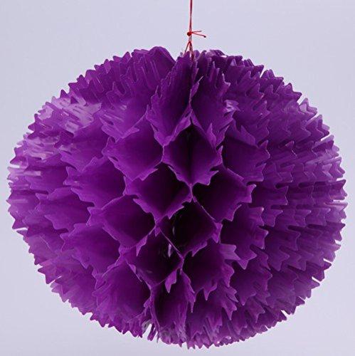 BOULES FESTONNEES EN PLASTIQUE IMPERMEABLE Ø25cm (violet)