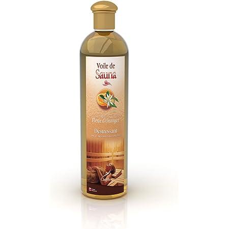 Camylle - Voile de Sauna Fleur D'Oranger - Fragrances à base d'Huiles Essentielles 100% Pures et Naturelles pour Sauna - Déstressant aux arômes suaves et captivants - 500ml