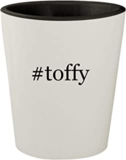 #toffy - White Outer & Black Inner Hashtag Ceramic 1.5oz Shot Glass