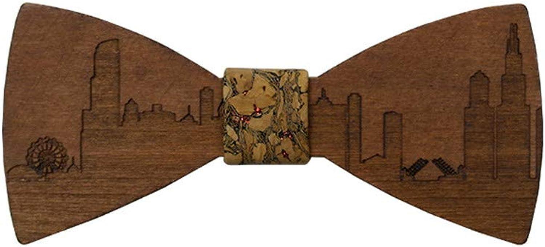 Man Wedding Wooden Adult Bow Tie Handmade Wooden Neckties