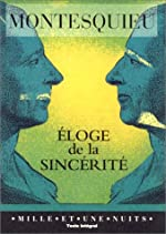 Éloge de la sincérité de Montesquieu