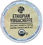 Cafe_Ole Organic Ethiopian Yirgacheffe Medium Roast Single Serve Coffee K Cups 72 Count