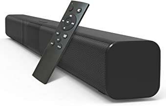 Arbalest 32-Inch Bluetooth 5.0 Sound Bar for TV, 8 Drivers Built-in Subwoofers Deep Bass 3D Surround Stereo TV Soundbar, Optical/Aux/RCA/TF/Coax Connection, Wall Mountable, Remote Control