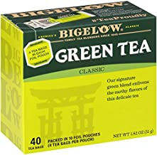 Bigelow Classic Green Tea Bags 40-Count Boxes (Pack of 6), 240 Tea Bags Total Caffeinated Individual Green Tea Bags, for Hot Tea or Iced Tea, Drink Plain or Sweetened with Honey or Sugar