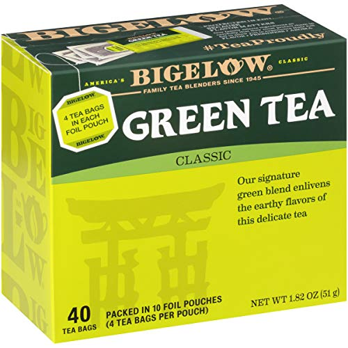 Bigelow Classic Green Tea Bags 40-Count Boxes (Pack of 6), 240 Tea Bags Total...