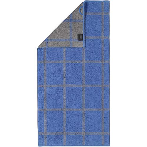 Cawö Home Handtücher Luxury Home Two-Tone Grafik 604 blau - 17 Handtuch 50x100 cm