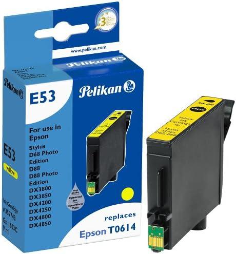 Pelikan Druckerpatrone E53 Ersetzt Epson T06144010 Gelb Pigment Bürobedarf Schreibwaren