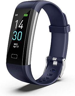 Covok Pulsera Inteligente Bluetooth Resistente al Agua, Smartwatch, Pulsera Inteligente presión Arterial, Reloj Pulsera Fitness Activity Tracker Deportivo, pulsómetro de muñeca