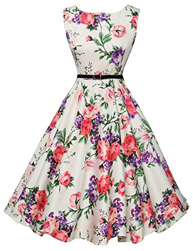 1920's Vintage Dresses for Women Pin-up Floral Print XS F-21