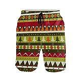 NO Bañador para hombre con bolsillos para árbol de Navidad, secado rápido, pantalones cortos con cintura elástica y forro de malla, multicolor, XL