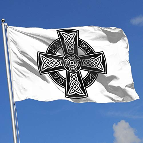 ZBGIGB Celtic Cross Ancient Celtic Symbols 3x5 Foot Flag Outdoor Flags 100% Single-Layer Translucent Polyester 3x5 Ft
