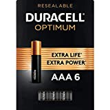 Duracell Optimum AAA Batteries | 6 Count | Long Lasting Triple A Battery | Alkaline AAA Battery