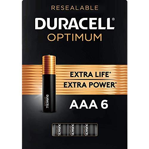 Duracell Optimum AAA Batteries   6 Count   Long Lasting Triple A Battery   Alkaline AAA Battery