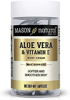 Mason Natural Aloe Vera & Vitamin E Hydration Skin Therapy Snipp-off Capsules, 60 Count